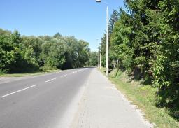 Istniejąca ul. Janowska. Planowane miejsce obiektu MS - 29 km 36+494.02