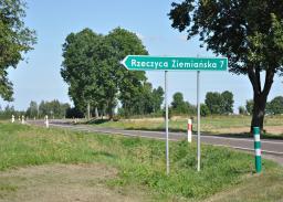Istniejąca droga krajowa DK 19/74. Miejsce planowanego MOP ''Słodków''